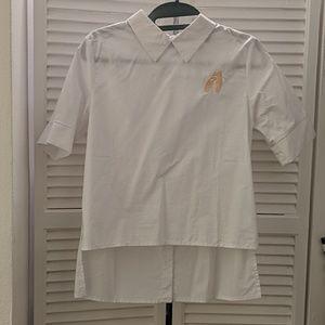 English Factory white short sleeve blouse